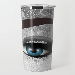 Glam diamond lashes eye #1 Travel Mug