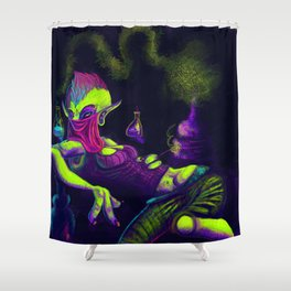 """The """"Young"""" Alchemist Shower Curtain"""