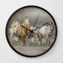 A Band of Horses Wall Clock