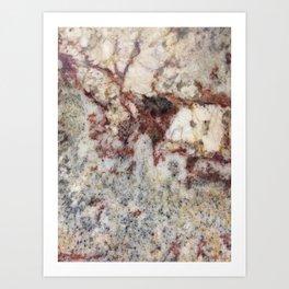 Granite, iPhone-Photo I, #stone #rock Art Print