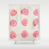blush Shower Curtains featuring Blush by 83 Oranges™
