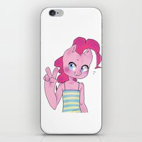 mlp iPhone & iPod Skins featuring Pinkie Pie Anthro Peace Sign MLP by oouichi