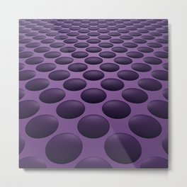 Purple Bumps Metal Print