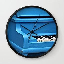 Piano Blues Wall Clock