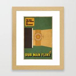 Our Man Flint Framed Art Print