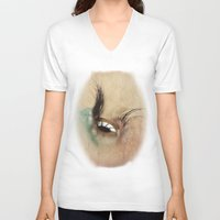 all seeing eye V-neck T-shirts featuring All Seeing Eye by Fran Walding