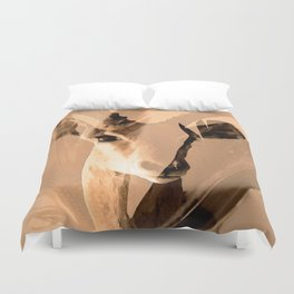 Beautiful and fast - Impala portrait Duvet Cover