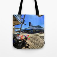 mad hatter Tote Bags featuring mAD hATTER by gymmybob