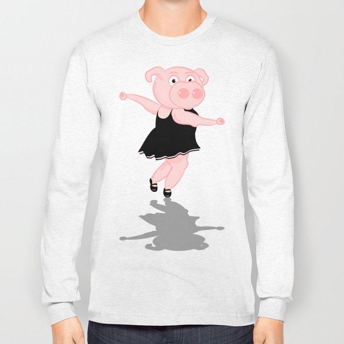 Pig Ballerina Long Sleeve T-shirt