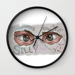 Silly Me. Wall Clock