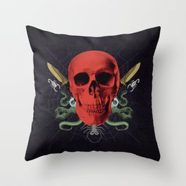 Faces Of Death Throw Pillow