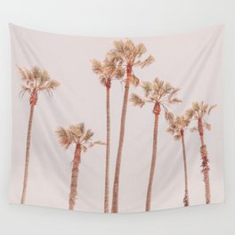 Vintage Palm Trees Wall Tapestry