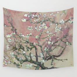 Almond Blossom - Vincent Van Gogh (pink pastel and cream) Wall Tapestry