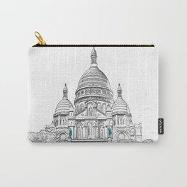 Sacre Coeur Basilica on Montmartre hill - Paris Carry-All Pouch