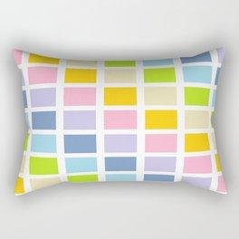Pastel Rainbow Squares Rectangular Pillow