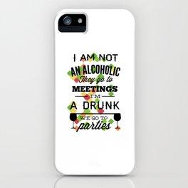 drunk alcoholic iPhone Case