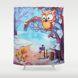 Hibouvernal Shower Curtain