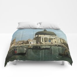 Venice: S. Simeone Piccolo by Follower of Canaletto Comforters