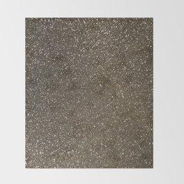 Bronze Gold Burnished Glitter Throw Blanket