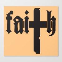 faith Canvas Prints featuring Faith by Spooky Dooky