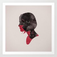 scary Art Prints featuring Scary thoughts. by Andre De Freitas