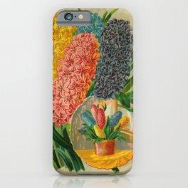Seed Catalog Garden Floral Fruit Hyacinthus Vase Window Table iPhone Case