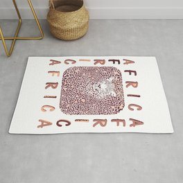 Africa and abstract texture of leopard Rug
