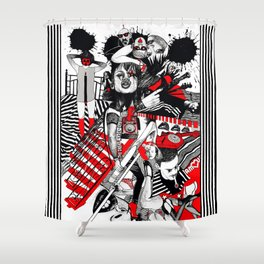 Vi(t)agra Shower Curtain
