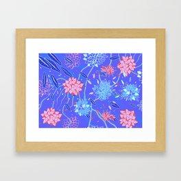 Heroinax Freaky Flowers Framed Art Print