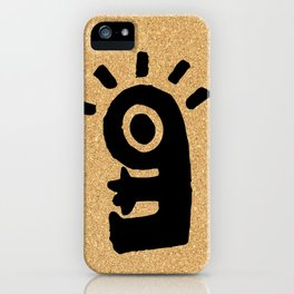 cork paper character iPhone Case