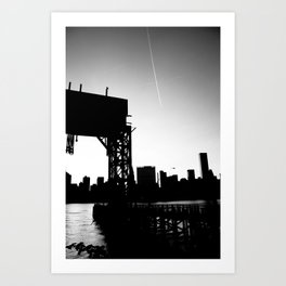 New York City Blackout Art Print