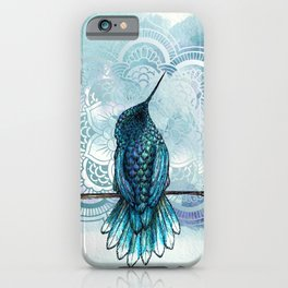 Aquarela hummingbird iPhone Case