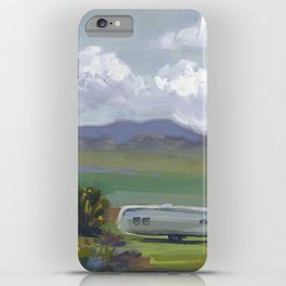 AIRSTREAM, Montana Travel Sketch by Frank-Joseph iPhone Case