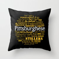 steelers Throw Pillows featuring Pittsburghese by Henderson GDI