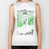 lovecraft Biker Tanks featuring Mr. Lovecraft by Robert Hoops