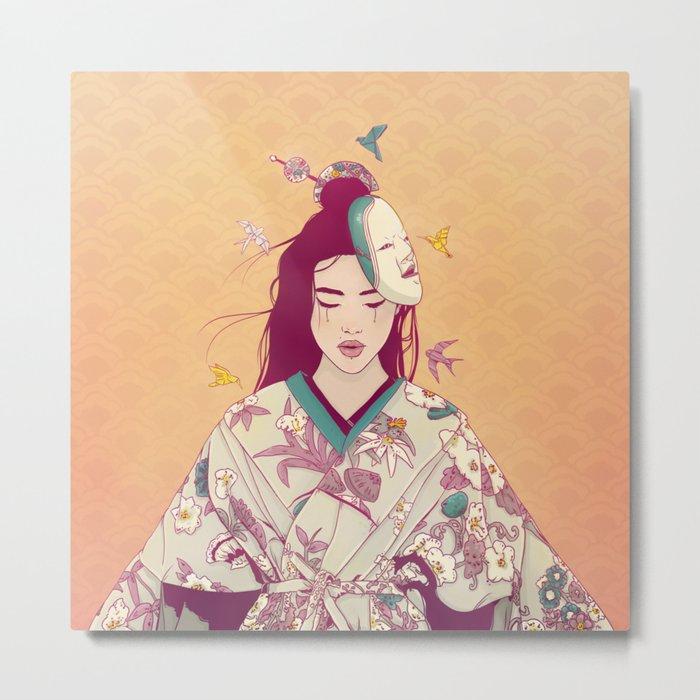 Origami Lady Metal Print
