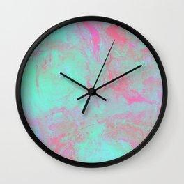Teal Pink Wall Clock