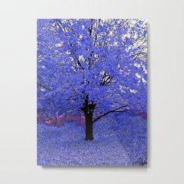 Trees Blue Purple Metal Print