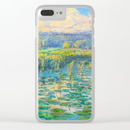 Václav Radimský (1867-1946) Windy Day Impressionist Landscape Oil Painting Clear iPhone Case