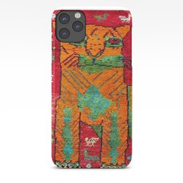 Antique Persian Hunting Rug With Lion Print iPhone Case