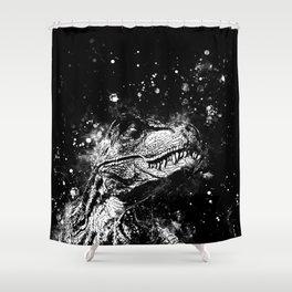 tyrannosaurus rex wsbw Shower Curtain