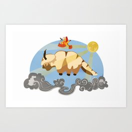The Flying Duo Art Print