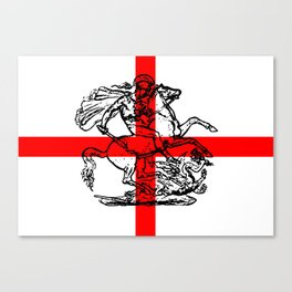 George and the Dragon Patriotic Flag Canvas Print