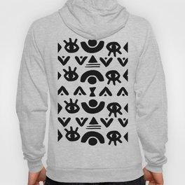 Magic symbol minimalist pattern (white) Hoody