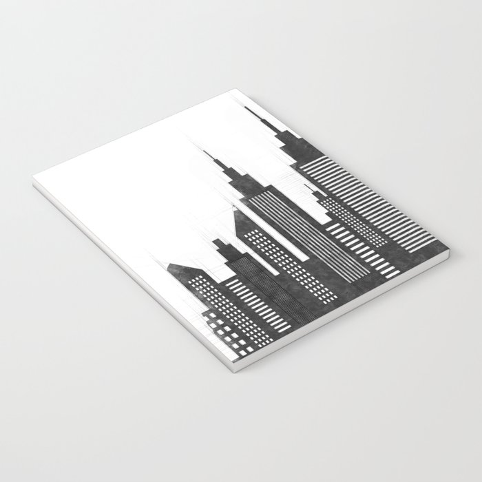 Modern City Buildings And Skyscrapers Sketch, New York Skyline, Wall Art Poster Decor, New York City Notebook