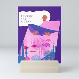 Protect the Ocean Mini Art Print