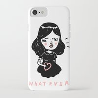 whatever iPhone & iPod Cases featuring Whatever by Mel Stringer