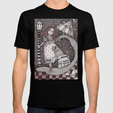 Alice's First Snow Black 2X-LARGE Mens Fitted Tee