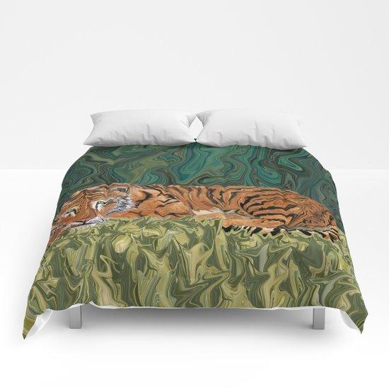 Tiger's Sunday Serendipity  Comforters
