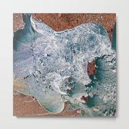 Lake Erie Islands in winter Metal Print